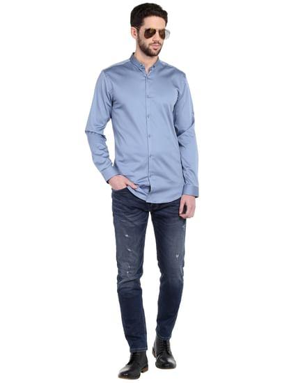 Powder Blue Slim Fit Shirt