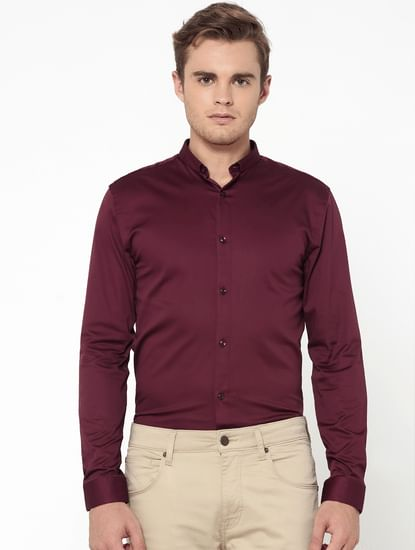 Burgundy Slim Fit Shirt