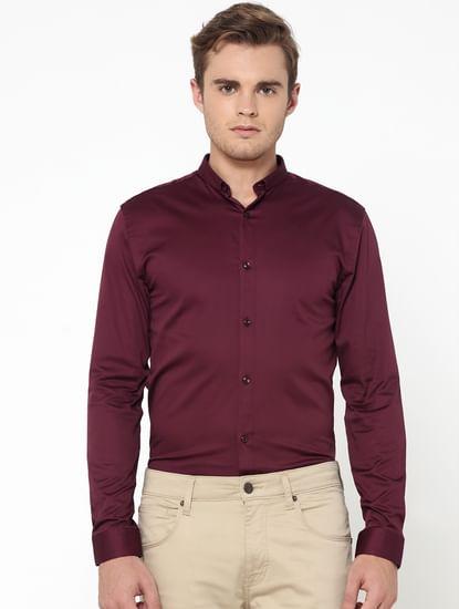 Burgundy Slim Fit Shirt