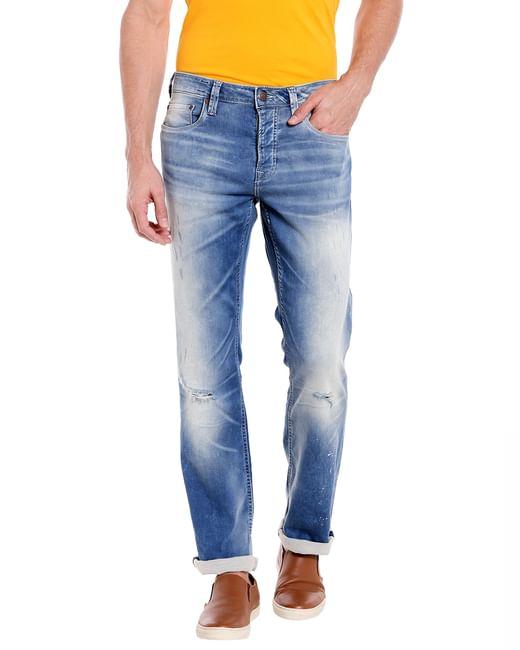 Light Blue Regular Fit Jeans