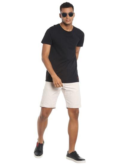 Off White Chino Linen Shorts
