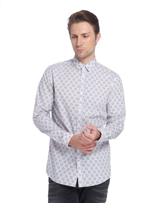 Jack Jones Purple Printed Slim Fit Shirt
