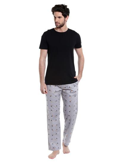 Charlotte Hornets Printed Grey Pyjamas Nba