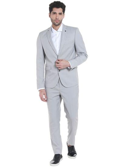 Light Grey Slim Fit Blazer