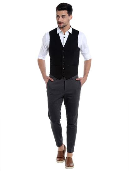 Black Printed Waistcoat