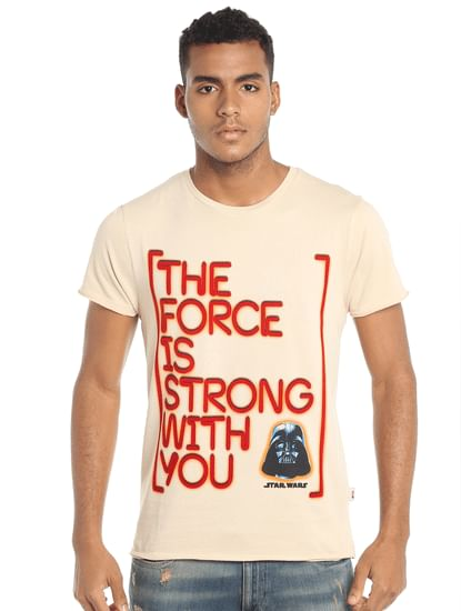 Star Wars Slogan Print Grey T-Shirt