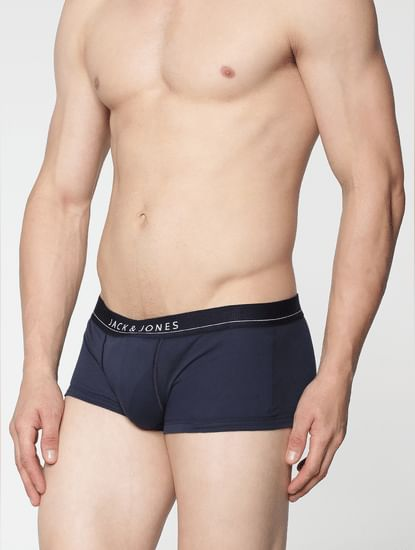Pack Of Two Brazilian Trunks - Navy And Grey