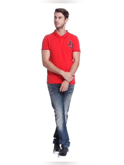 Bright Red Polo T-Shirt