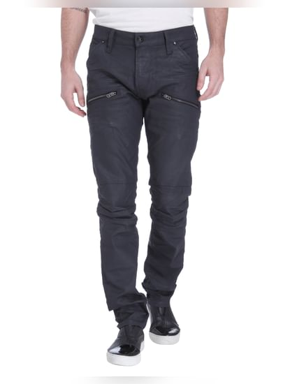 Black Low Rise Slim Fit Jeans