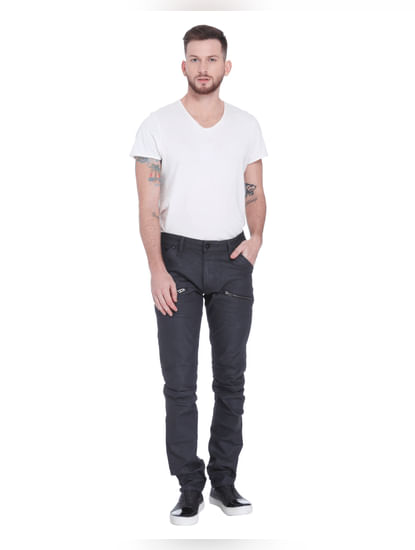 Black Low Rise Slim Fit Jeans