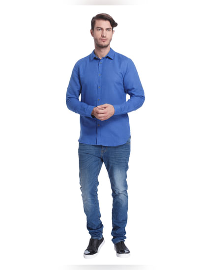 Electric Blue Slim Fit Shirt