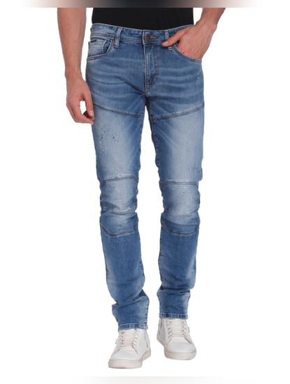 Blue Low Rise Slim Fit Jeans