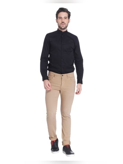 Beige Slim Pants
