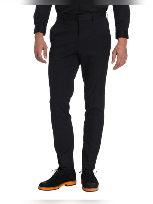 Dark Blue Slim Fit Trousers
