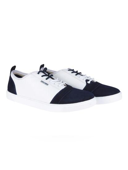 Dark Blue & White Sneakers