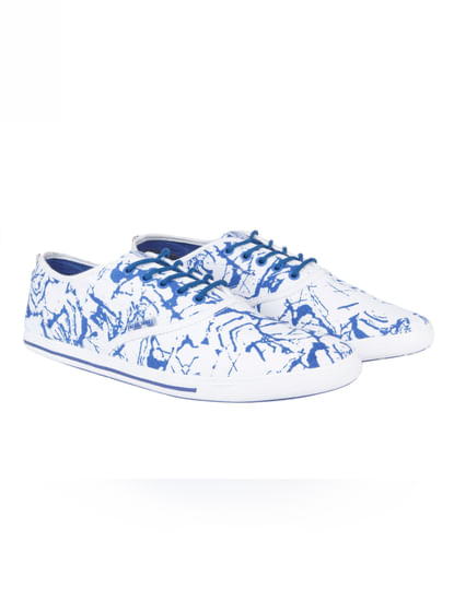 Blue All Over Print Sneakers