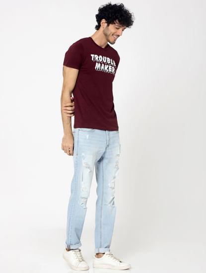 Light Blue Heavy Distressed Tim Slim Jeans
