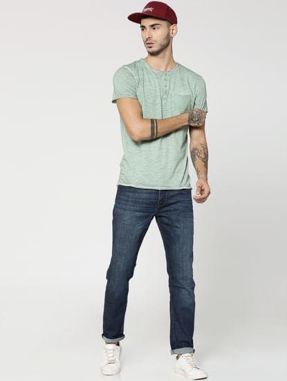 Light Green Henley T-Shirt