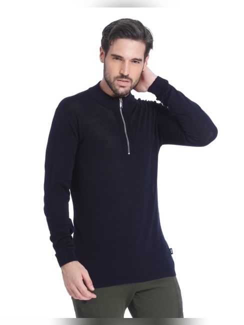 Blue Zip Up Sweatshirt