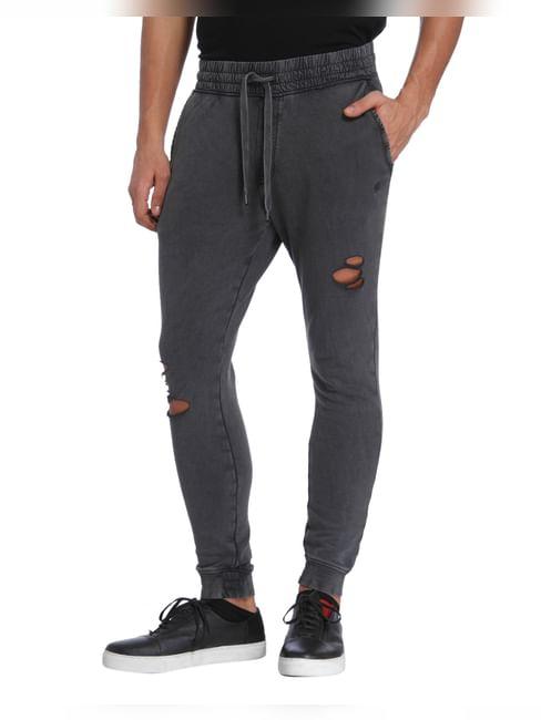 Grey Ripped Sweatpants