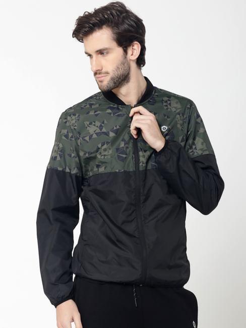 Black Skull Camo Print Jacket