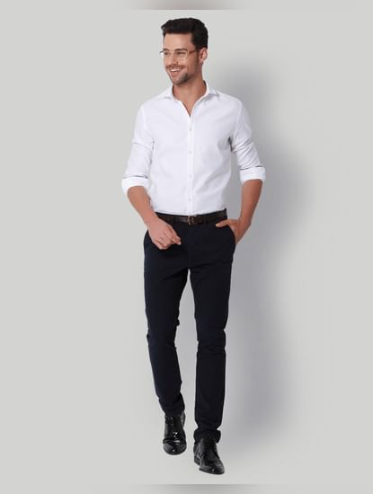 Navy Blue Slim Fit Chinos