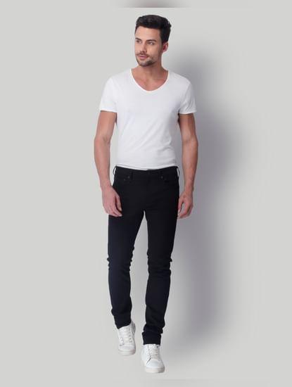 Black Low Rise Skinny Fit Jeans