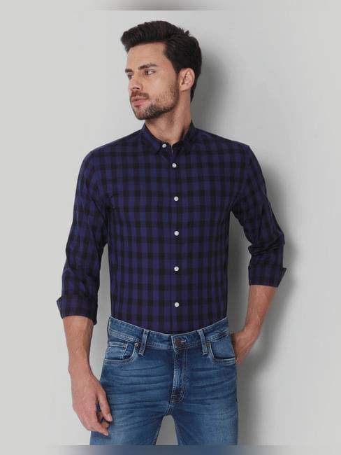Blue & Black Check Shirt