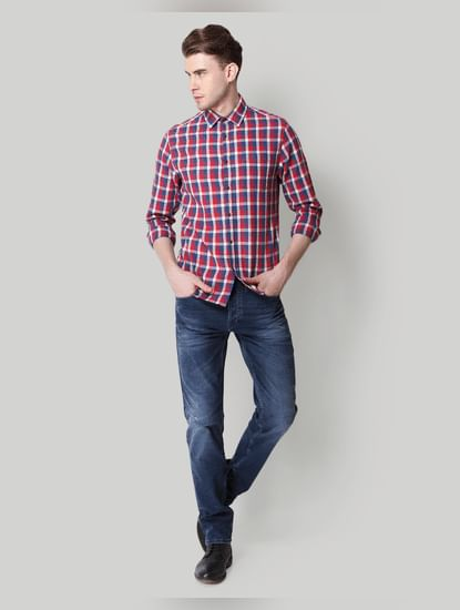 Red Check Linen Shirt
