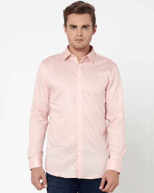 Pink Slim Fit Shirt