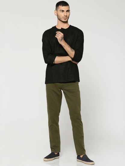 Olive Green Glenn Slim Fit Pants