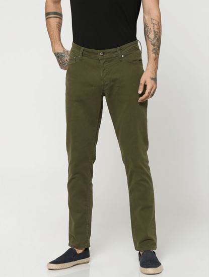 Olive Green Glenn Slim Fit Pants