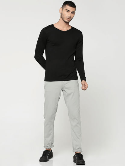 Grey Glenn Slim Fit Pants