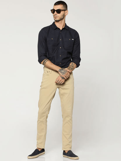 Khaki Glenn Slim Fit Pants
