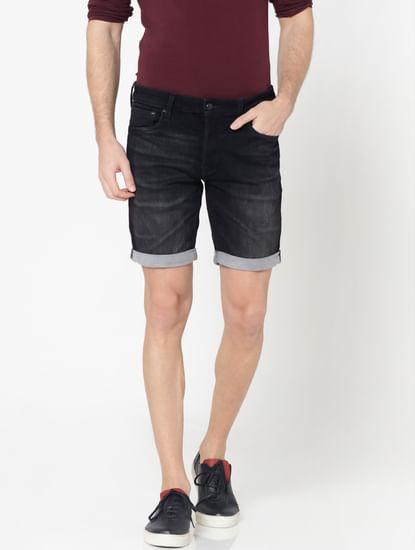 Black Rick Regular Fit Denim Shorts