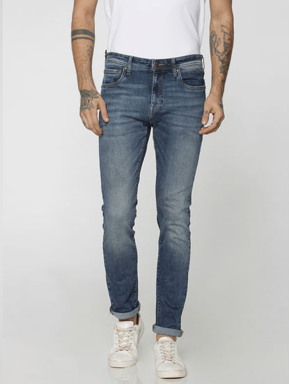 Dark Blue Ben Low Rise Skinny Fit Jeans