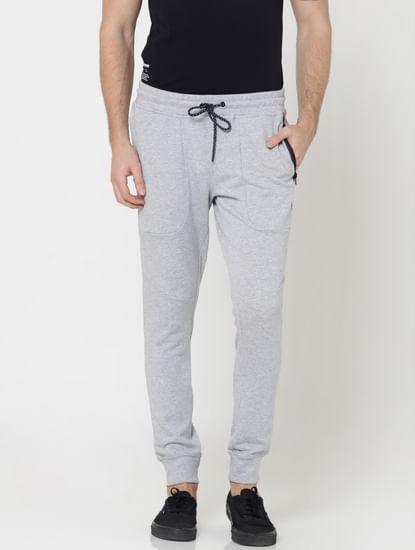 Light Grey Side Zip Detail Sweatpants