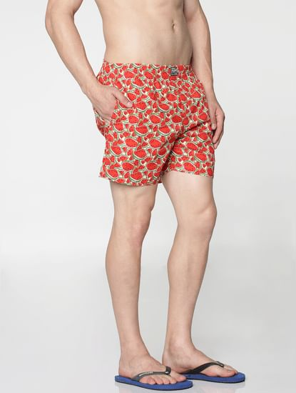 Yellow All Over Watermelon Print Boxer