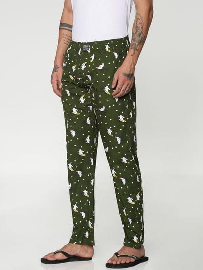 Green All Over Panda Print Pyjama