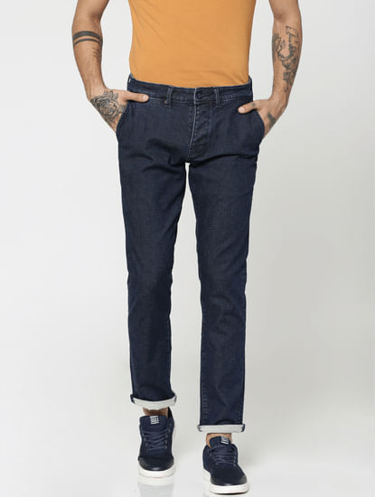 Dark Blue Tim Slim Fit Jeans