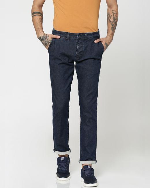 Dark Blue Tim Slim Fit Jeans