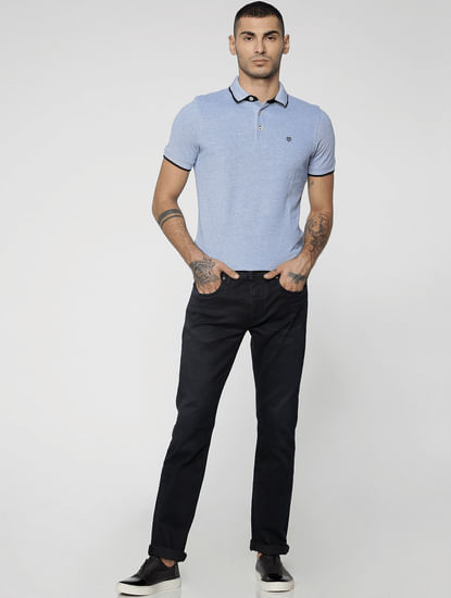 Dark Blue Clark Regular Fit Jeans