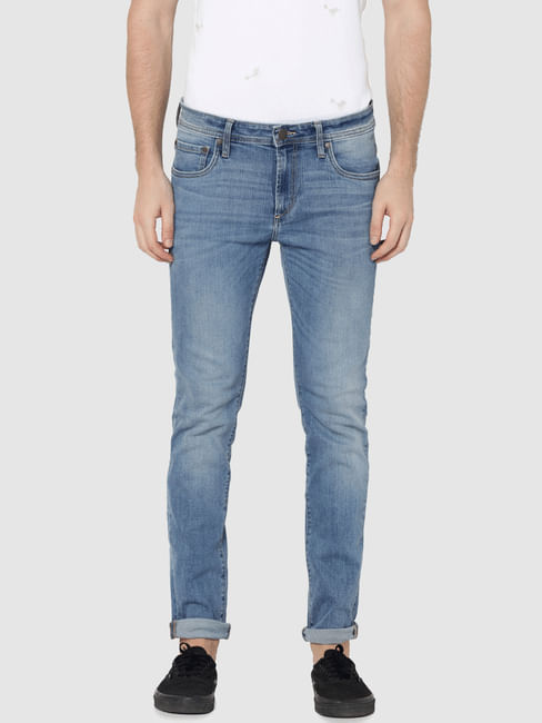 Light Blue Ben Low Rise Skinny Fit Jeans