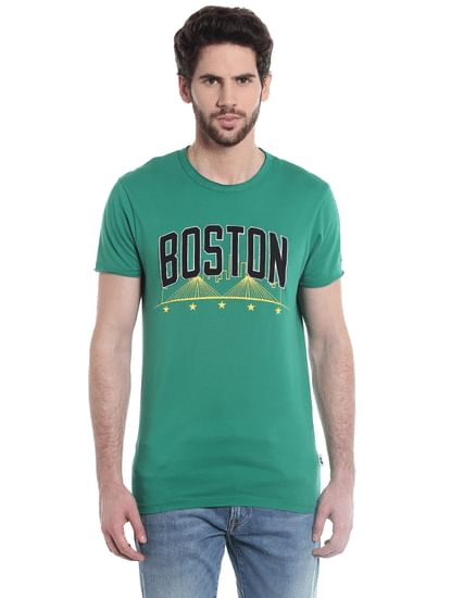 Boston Celtics Green Crew Neck Nba T-Shirt