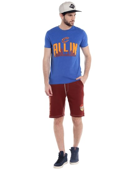 Cleveland Cavaliers Blue Graphic Print Crew Neck Nba T-Shirt