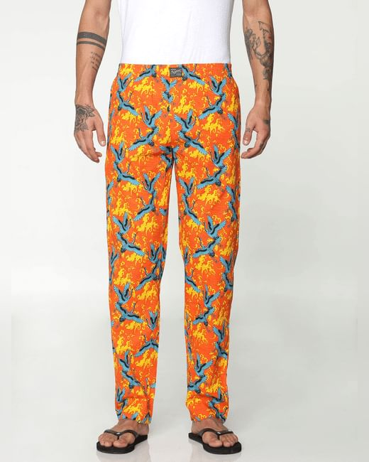 Rose All Over Flying Cranes Print Pyjama