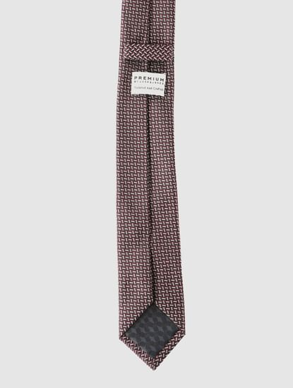 Purple Printed Tie