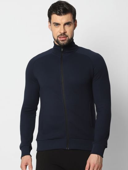 Navy Blue Zip Up Sweatshirt