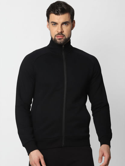 Black Zip Up Sweatshirt