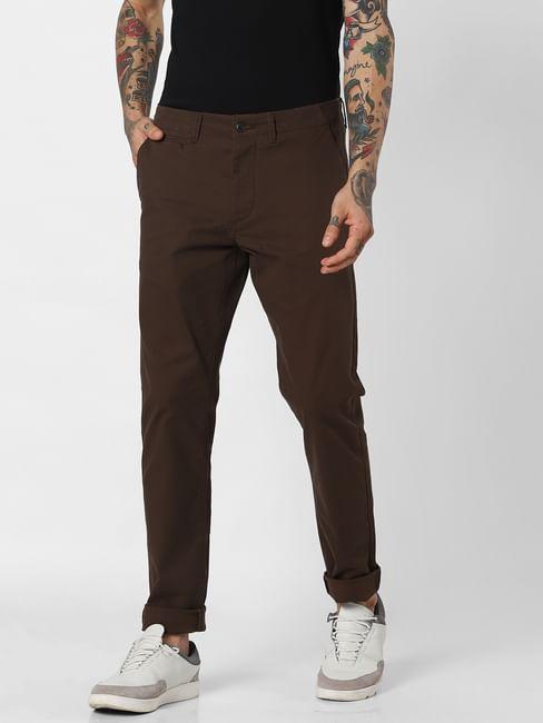 Dark Brown Mid Rise Pants